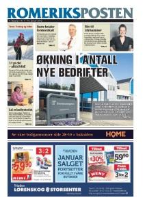 Romeriksposten 1. utgave 2013 forside